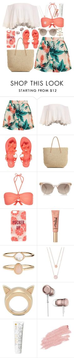 """""""Labor Day"""" by magicofashion ❤ liked on Polyvore featuring Topshop, Melissa, Target, Monsoon, Kate Spade, Too Faced Cosmetics, Accessorize, Michael Kors, STELLA McCARTNEY and St. Tropez"""