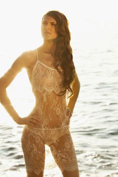 Shell Belle Couture S/S 2014 Vintage Lace Slip & Briefs