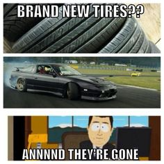 Brand New Tires?? Annnnd They're Gone Love #Drifting Check out #DriftSaturday at www.Rvinyl.com every #Saturday!