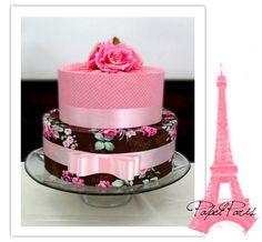 Bolo decorativo em tecido Bolo Da Minnie Mouse, Wedding Cake Toppers, Wedding Cakes, Bolo Paris, Bolo Grande, Fake Cake, Dream Cake, Fondant, Cake Decorating