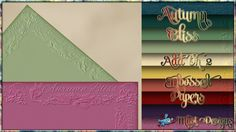 Autumn Bliss - AO2 - Embossed Papers