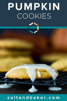 These soft pumpkin cookies are easy to make and are incredibly moist. It's the best pumpkin cookie by far! The cream cheese frosting drizzle is the perfect touch. This is a great fall recipe to share. Best Pumpkin, Pumpkin Bread, Pumpkin Spice, Cinnamon Recipes, Pumpkin Recipes, Fall Recipes, Worlds Best Cookies, Best Cookies Ever, Best Homemade Cookie Recipe