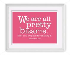 Printable We Are All Bizarre Quote 5x7 Printable Art by PIYDesigns, $4.95