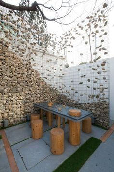 Gabion River Stone Sculpture