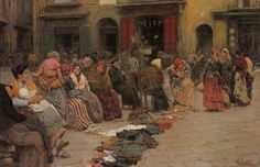 Vincenzo Caprile (1856-1936) - in the rags Market.