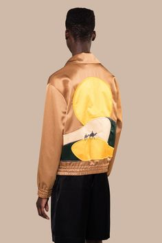 Rodeo Embroidered Track Jacket Camel