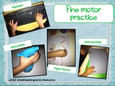 Kinder Alphabet: Fine motor practice