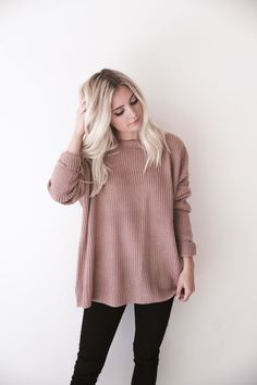 Mauve Knit Sweater: