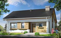 Projekt Bonifacy to niewielki, parterowy domek jednorodzinny, dla 3-4osobowej rodziny. Dom przekryty został dwuspadowym dachem. Nad parterem zaprojektowano nieużytkowy strych, który z łatwością można zaadaptować na poddasze z dodatkowymi pokojami. Dom Bonifacy, dzięki prostej bryle jest łatwy i niedrogi w budowie. Będzie też tani w późniejszej eksploatacji.