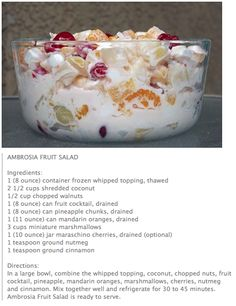 Ambrosia Fruit Salad.....