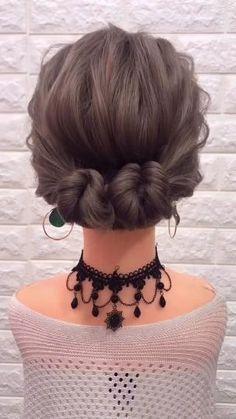 Hairstyles For Medium Length Hair Easy, Easy Updos For Medium Hair, Easy Hairstyles For Medium Hair, Short Hair Updo, Step By Step Hairstyles, Hairstyles For Working Out, Easy Hairstyles For Short Hair, Medium Length Bridal Hair, Party Hairstyles For Girls