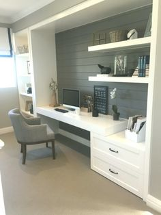 Contemporary Home Office Design Ideas For a Trendy Working Space Contemporary Home Office Design Ideas – A tiny office may gain from having actually. Tiny Home Office, Home Office Storage, Home Office Space, Home Office Design, Home Office Decor, House Design, Office Ideas, Office Furniture, Workplace Design