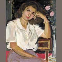 View Portrait of Miss N. with two roses by Yannis Tsarouchis on artnet. Browse upcoming and past auction lots by Yannis Tsarouchis. Figure Painting, Painting & Drawing, Contemporary Decorative Art, Greek Paintings, Two Roses, Painter Artist, Greek Art, Portraits, Naive Art