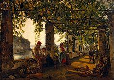File:Silvestr Shchedrin - Веранда, обвитая виноградом - A veranda overgrown with grape vines Date 1828