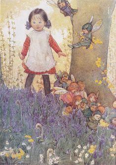 "https://flic.kr/p/oYbRSZ   Susan Beatrice Pearse  (British, 1878–1980), ""A Girl Meets the Fairies"""