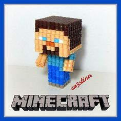 3D Steve - Minecraft hama beads by cr3stinayoutube - Video Tutorial