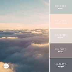 Color Combination: Vanilla Skies. Try this soothing palette in your next…