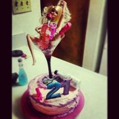 Drunk Barbie Puking On The Beach Cake I Made For My Cousin