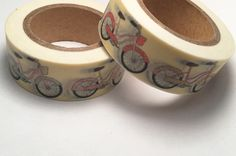 Shabby Chic Bicycles Washi Tape 15mm by PinkSunshineSupplies on Etsy