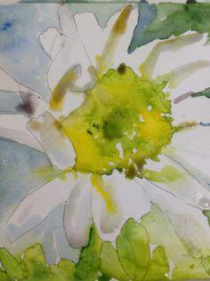 """""""Daisy"""" by Texas Watercolor Artist, Karen Scherrer"""