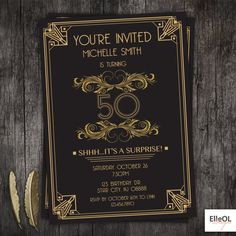 Awesome Gatsby invitations and soo much more afforable than the first ones I pinned