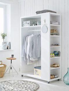 54 Custom Small Closet Design Ideas That You Can Try In Your Home - Coziem Diy Wardrobe, Wardrobe Design, Wardrobe Storage, Wardrobe Organisation, Organisation Ideas, Small Wardrobe, Sliding Wardrobe, Modern Wardrobe, Wardrobe Doors