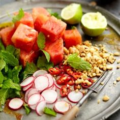 If you're looking for a quick and easy summer meal to whip up this weekend, how about our Thai Watermelon Salad? It can easily be served as main meal for lunch, or delicious as a side with the braai. Salad ingredients: ¼ watermelon, skin removed and cut into cubes ½ cup peanuts, toasted and