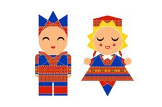 Vector Scandinavian Children Icons - Illustrations     VECTOR MODERN GEOMETRIC FOLK ART SCANDINAVIAN SAMI SAAMI SAPMI NORWAY BUNAD FOLK COSTUME TRADITIONAL NORTHERN WINTER CHRISTMAS JUL CHILDREN KID KIDS ICONS BOY GIRL CHARACTER PICTOGRAM ILLUSTRATION EMBROIDERY SWEDEN TROMSO HAPPY SMILING FOUR WINDS HAT
