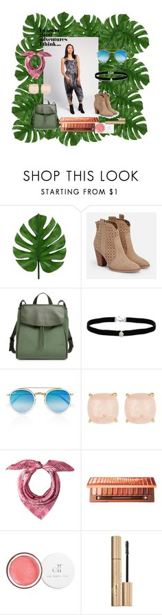 """""""Adventure Awaits!"""" by thenewblak on Polyvore featuring JustFab, Skagen, Amanda Rose Collection, Ray-Ban, Ariella Collection, MCM, Urban Decay and Stila"""