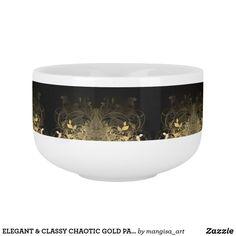 ELEGANT & CLASSY CHAOTIC GOLD PATTERN FOR SOUP MUG