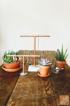 Diy Copper Pipe Jewelry Display.