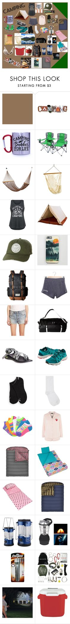 """""""Camping"""" by mikahelaine ❤ liked on Polyvore featuring Thos. Baker, Billabong, Kavu, Free People, The North Face, Chaco, Title Nine, Puma, M&Co and Everlast"""