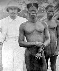 """King Leopold turned his """"Congo Free State"""" into a massive labour camp, made a fortune for himself from the harvest of its wild rubber, and contributed in a large way to the death of perhaps 10 million innocent people. """"I was so moved, Your Excellency, by the people's stories that I took the liberty of promising them that in future you will only kill them for crimes they commit."""" John Harris, Missionary in Baringa. #Maafa #Africa #African #Congo #DRC"""