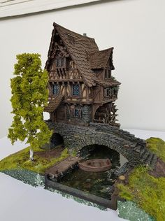 Tabletop World Shows Off 2018 Painting Competition Winners – OnTableTop – Ho. - Tabletop World Shows Off 2018 Painting Competition Winners – OnTableTop – Home of Beasts of War - Medieval Houses, Medieval Town, Medieval Fantasy, Minecraft Projects, Minecraft Houses, Fantasy House, Fantasy Village, Minecraft Medieval, Building Concept