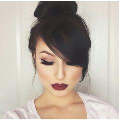 18 Most Romantic Hairstyles with Bangs - Fashionre 18 romantischsten Frisuren mit Pony 201 Love Makeup, Makeup Tips, Beauty Makeup, Makeup Looks, Hair Makeup, Hair Beauty, Makeup Ideas, Classy Makeup, Beauty Vanity
