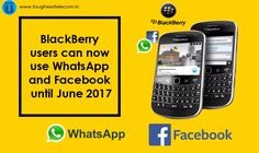 #BlackBerry users can now use #WhatsApp and #Facebook until June 2017    WatsApp earlier this year announced that it would stop supporting the old #smartphones smartphones made by #Nokia and #BlackBerry by the end of this year. These phones run on old BlackBerry OS and Symbian OS and WhatsApp said that they will be incompatible with its chat app after #December 31. But now there is reversal of that decision. WhatsApp has now said that its app will continue to run on these old #phones until…