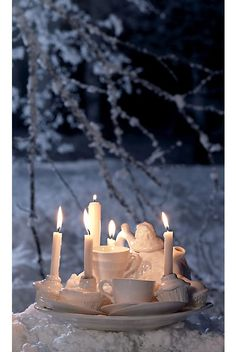 ❥ Tea party candelabra from Anthropology