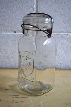 アンティークACMEガラス瓶USキッチンボトルキャニスターオブジェ Antique glass bottles ¥3150円 〆03月28日