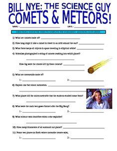 guide worksheet space rocks meteor asteroid comet anime style students and worksheets. Black Bedroom Furniture Sets. Home Design Ideas