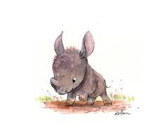 Baby rhino, by Sydney Hanson