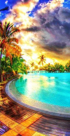 Reflection of Sun | Dinarobin Hotel, Mauritius