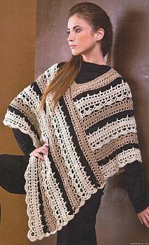 free crochet patterns for plus size ponchos - Google zoeken