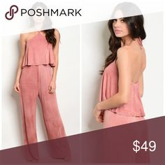 a8e0fdc37b5 New pink mineral wash halter jumpsuit . Brand new from my boutique . Model  is wearing