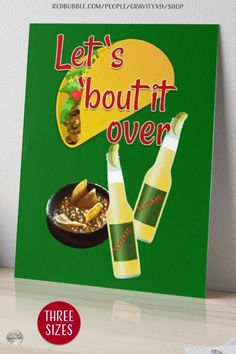 * Let's Taco 'Bout It Art Board by #Gravityx9 at Redbubble. * Nice accent of Latino themed party or kitchen. * Professionally printed on watercolor textured 4ply art boards * Easily applied to walls with 3M Velcro dots * This taco design is available on tee shirts, stickers, drink ware, poster prints, home decor and more. * taco wall decor * office decor wall art * #walldecor #homedecor #kitchendecor #inthekitchen #tacos #beer #cerveza #cincodemayo #mexico #mexican #mexicanfood #latinx 0821 Office Wall Decor, Wall Art Decor, Food Themes, Party Themes, Lets Taco Bout It, Spanish Design, Flag Art, Chips And Salsa, Velcro Dots