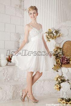 Ivory Beaded Short Unique Party Dresses:1st-dress.com