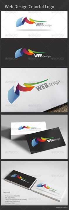 Web Design Colorful Logo — Vector EPS #creative #design • Available here → https://graphicriver.net/item/web-design-colorful-logo/3408493?ref=pxcr