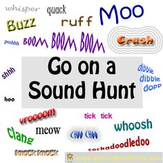 Go on an outdoor sound hunt inspired by Mr. Brown Can Moo! Can You?