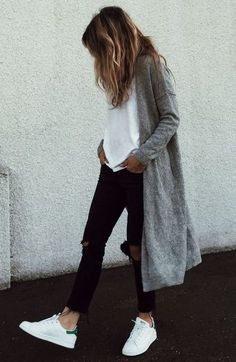 Grey cardigan, wardrobe staple