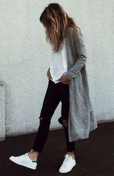 Grey cardigan, wardrobe staple