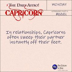 Daily astrology fact from The Daily Astro! Take a look at your horoscope for today, Capricorn.  Visit iFate.com today!